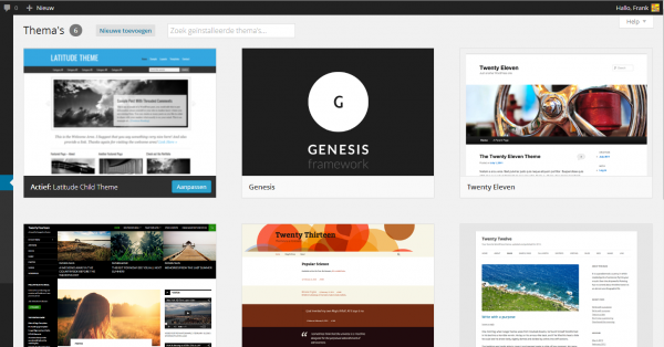Wordpress 3.8 themes